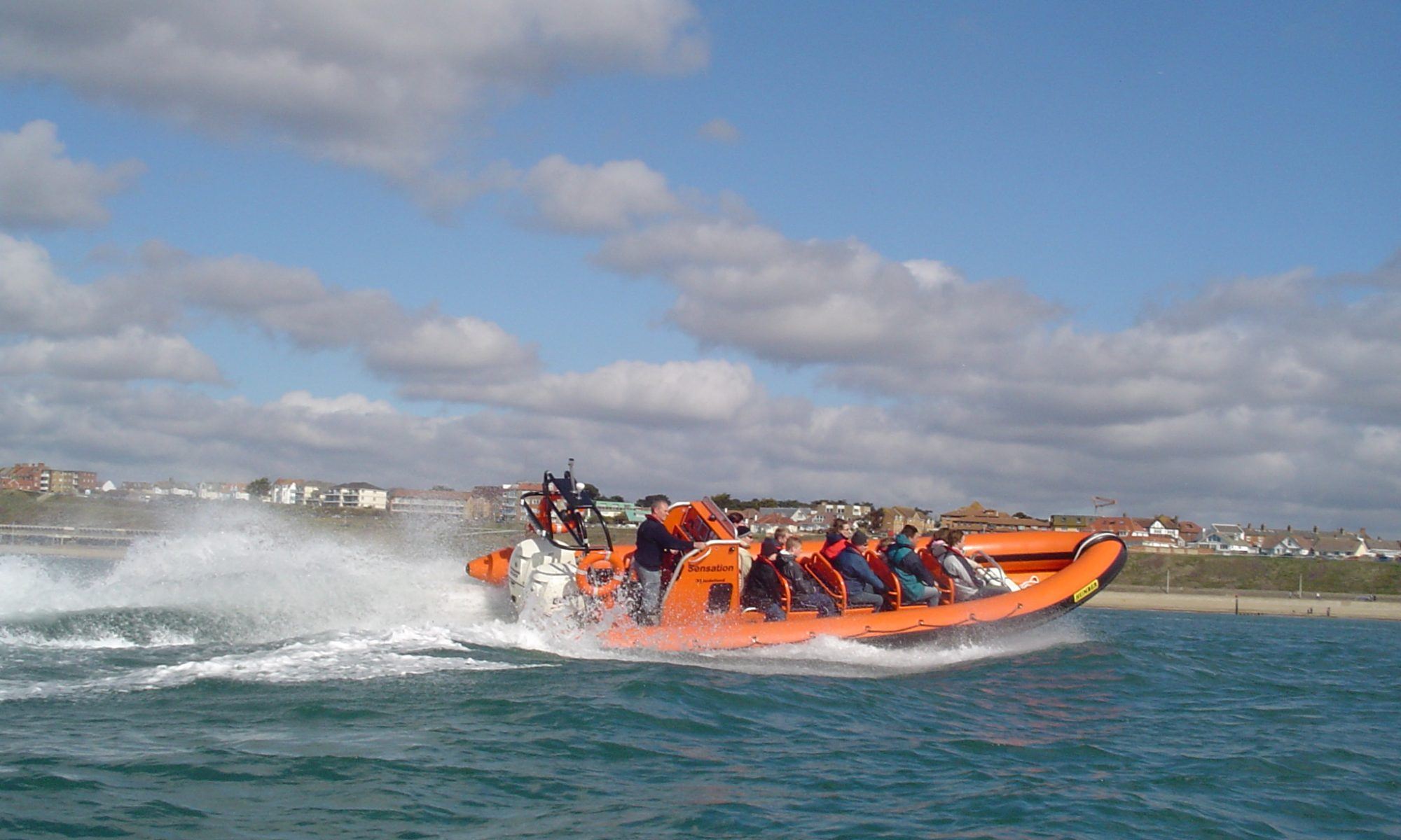 Adventure Voyages RIB Sensation on a trip to the Needles