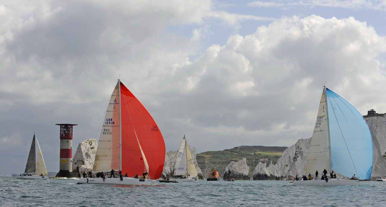 Adventure Voyages RIB Sensation at the Needles for the yacht race