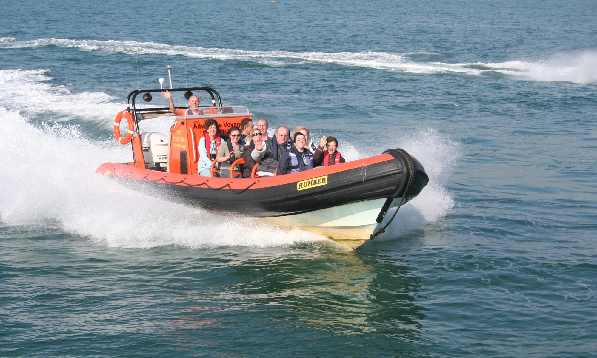 Adventure Voyages RIB Sensation on a bay blast